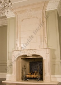 two story fireplace mantel