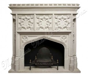 antique design marble fireplace mantle