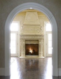 large custom fireplace mantel