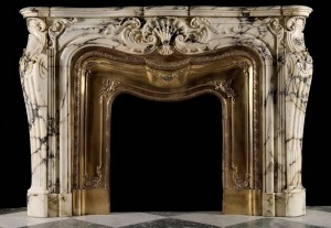 antique italian marble mantel